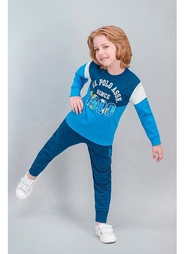 U.S. Polo Assn. U.S. Polo Assn Lisanslı Lacivert Erkek Çocuk Eşofman Takımı Mavi